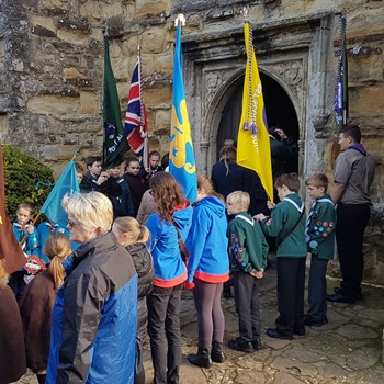 Staplehurst Scout Group attending the village Remembrance Parade